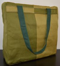 Borsa in tessuto verde e verdone 37x37 cm