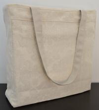 Borsa in tessuto crema damascato 38×36 cm