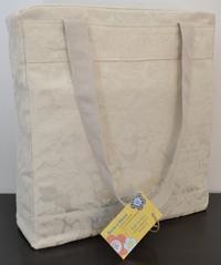 1 borsa in tessuto crema damascato 33×30 cm