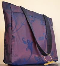 Borsa in tessuto cangiante viola e blu 33x33 cm