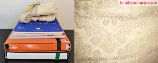 Cosa può contenere la borsa in tessuto crema damascato 33x30