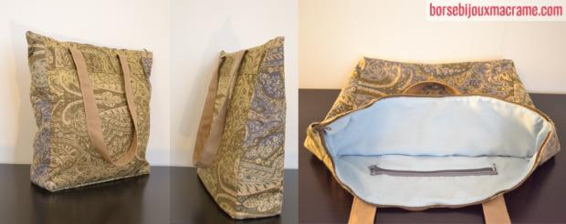 Borsa in tessuto fantasia 35×30 cm