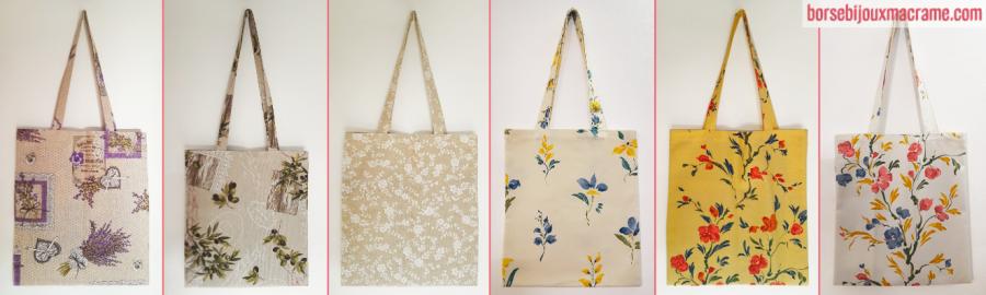 Shopper bag in vari tessuti fantasia