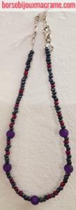 Bijoux _ Collana di perline viola e antracite