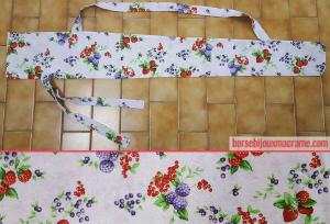 Borsa porta ombrellone in tessuto floreale