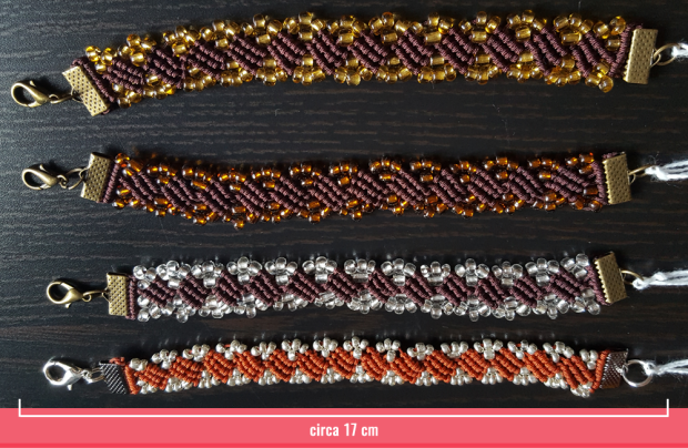Macramè - Bracciale stesso pattern ma di colori diversi