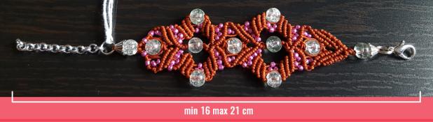 Macramè - Bracciale filo rosso e perline trasparenti